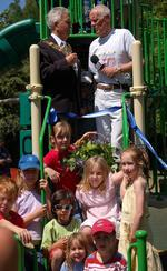 Mayor Opens Moormead Playground