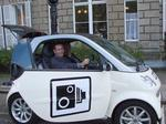 Cllr Trigg in the CCTV Smart Car