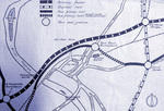 The plan of the proposed Motorway - 1965