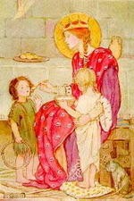 St Margaret and orphans