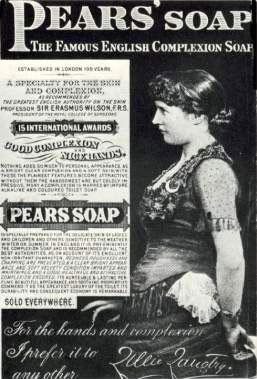 Thomas Clinton Pears TITANIC_Lillie-Langtry-Advert