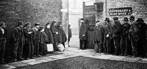 queuing at workhouse
