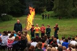 Istmar cubs at camp fire