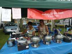 Indian street food stall in aid of Impacts indian hospital train