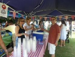 The Pimms stall