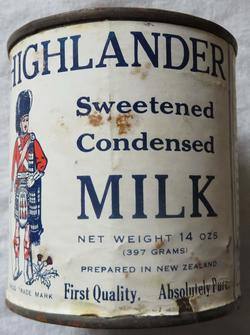 Condensed milk tin