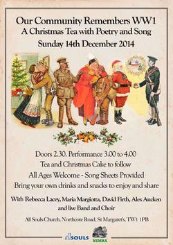 Christmas Tea Event Poster