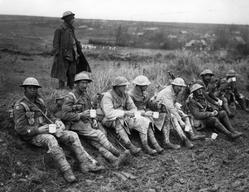 soldiers with tea