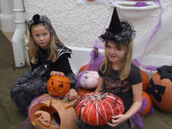 Taking part in Halloween activities at Strawberry Hill