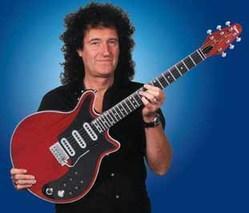 brian may + home made guitar