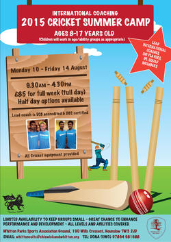 2015 CRICKET SUMMER CAMP