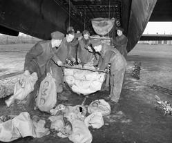 Loading Lancaster with food