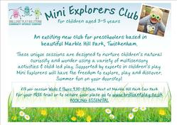 Mini explorers Marble Hill poster