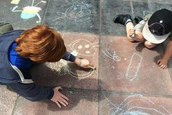 childrens pavement art 2