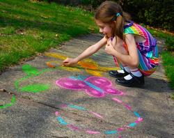 childrens pavement art