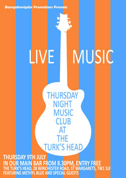 Thurs Music Night at Turks Head   9 July 2015