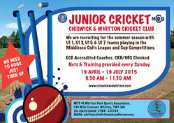cricket poster summer 2015   U9 13