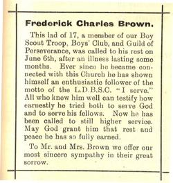 Frederick Brown obit
