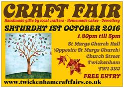 CRAFTFAIR 1ST OCTOBER 2016 FLYER