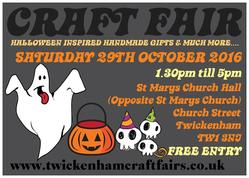 CRAFTFAIR 29TH OCTOBER 2016 FLYER