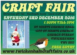 CRAFTFAIR 3RD DECEMBER 2016 FLYER