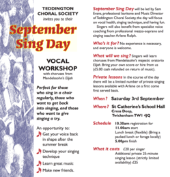 September Sing Day