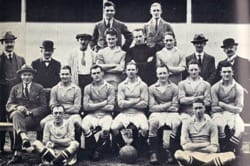 Billy at Wimbledon FC -  he is the one in the second row with a bandaged knee