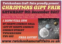 TWICKCRAFTFAIR 8 9^th^ December 2017 FRONT