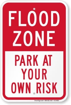 Image - FLOODING_flood-zone-park-at-your-own-risk-sign