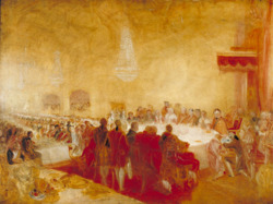 George IV at the Provost's Banquet in the Parliament House, Edinburgh c.1822 owned by Tate.