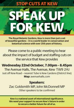Kew Gardens public leaflet