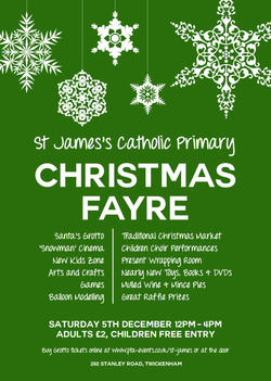 St James Christmas Fayre 2015 poster